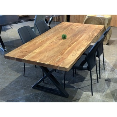 """Acacia 84"""" Dining Table with straight edge ZEN-84-SE"""
