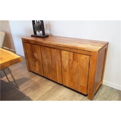 """Acacia Wood Sideboard 60"""" ZEN-BUF-AC"""