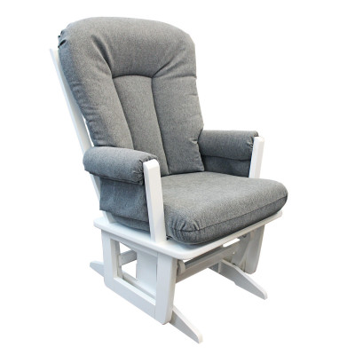 Wood Rocking Chair (Grey/White)