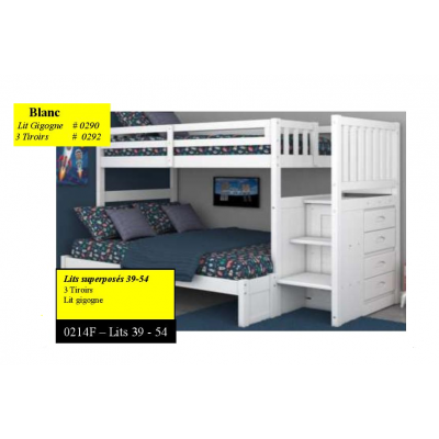 "214F Bunkbed 39""-54"" with staircase"