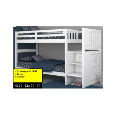 "214 Bunkbed 39""-39"" with staircase"