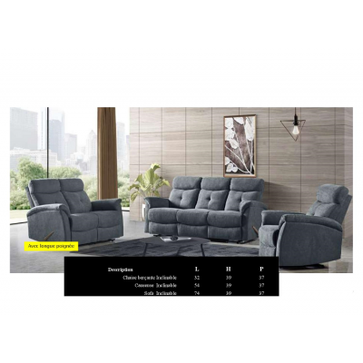 1802 3pcs Reclining Set