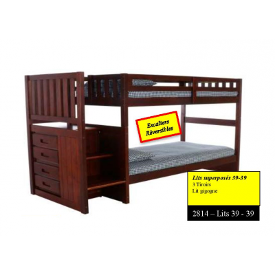"2814 Bunkbed 39""-39"" with staircase"