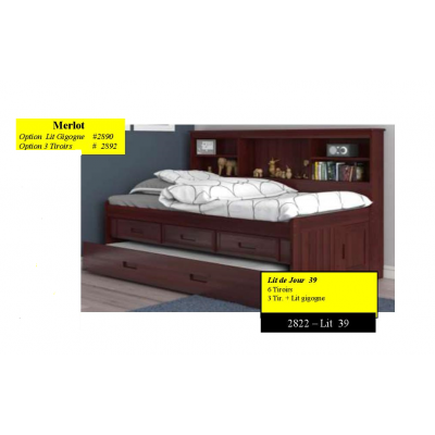"Twin Day Bed 39"" 2822"