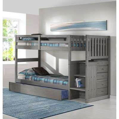 "3214 Bunkbed 39""-39"" with staircase"