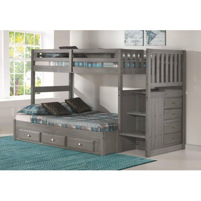 "3214F Bunkbed 39""-54"" with staircase"