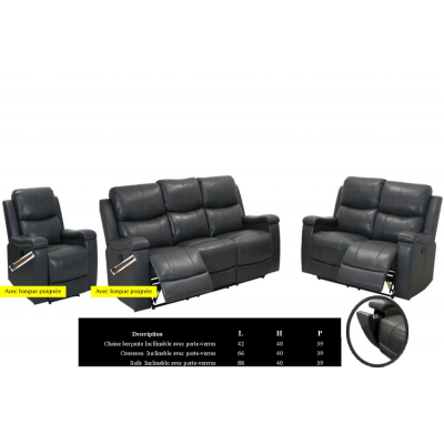 5064 3pcs Reclining Set