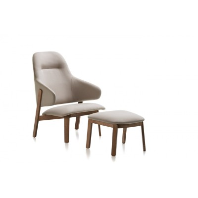 Chaise lounge Wolfgang dossier haut