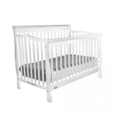 Jessie 4-in-1 Convertible Baby Crib (White)