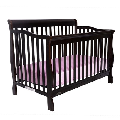 Jessie 4-in-1 Convertible Baby Crib (Chocolate)