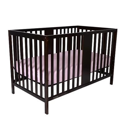 William 4-in-1 Convertible Baby Crib (Chocolate)