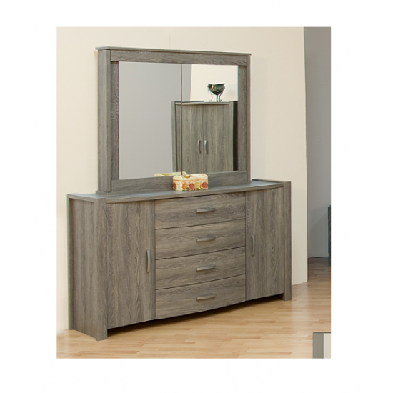 Dresser with retractable mirror 20540