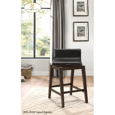Rochelle Swivel Counter Pub Chair (Dark Brown)