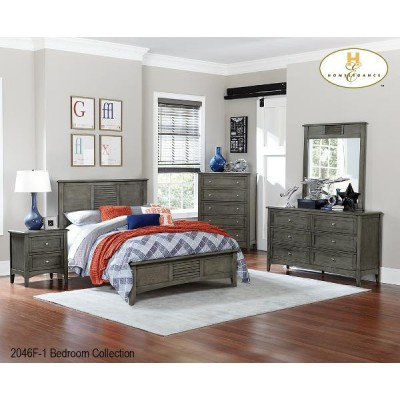 Contemporary Twin 5pcs. Bedroom Set