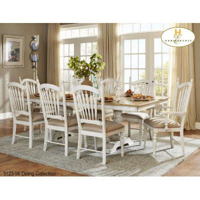 Hollyhock 9pcs. Dining Set