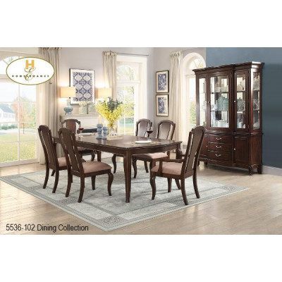 Traditional 7pcs. Dining Set