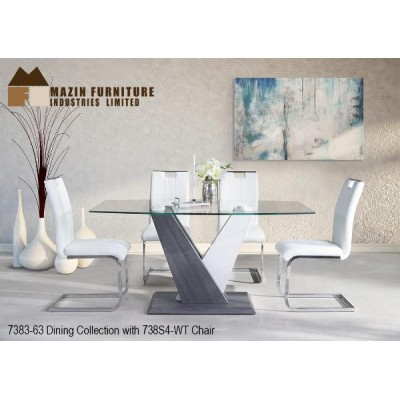 Ensemble table et quatre chaises Modern