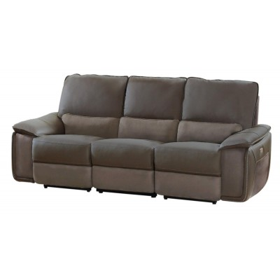 Corazon Power Reclining Sofa (Dark Grey)