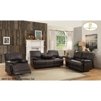 Cassville Reclining Set (Dark Brown)