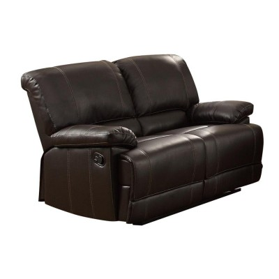 Cassville Reclining Loveseat (Dark Brown)