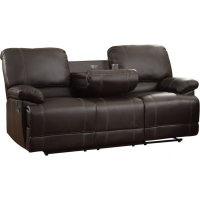 Cassville Reclining Sofa (Dark Brown)