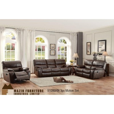 Cassy Reclining 3pcs. Set (Brown)
