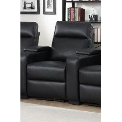 Armless Reclining Chair Saville (Black)