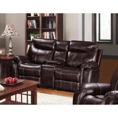 Chastain Reclining Loveseat (Brown)
