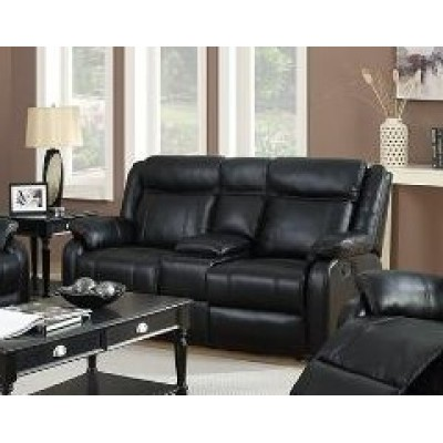 Duncan Reclining Loveseat (Black)