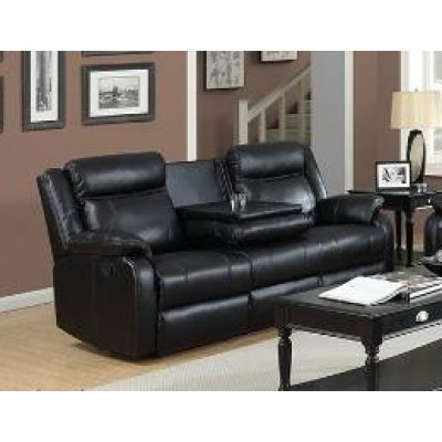 Duncan Reclining Sofa (Black)