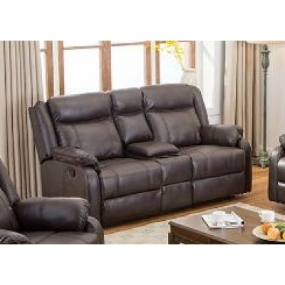 Duncan Reclining Loveseat (Brown)