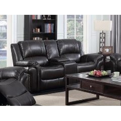 Cora Reclining Loveseat (Brown)