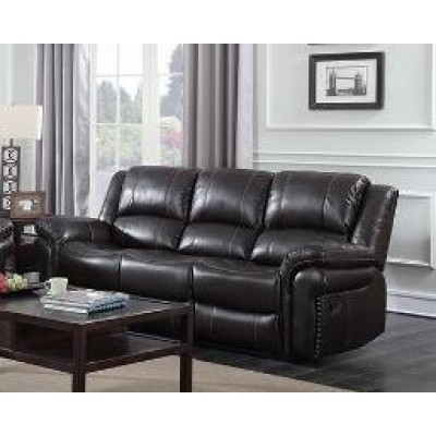 Cora Reclining Sofa (Brown)