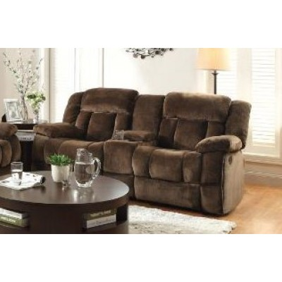 Laurelton Reclining Loveseat (Dark Brown)