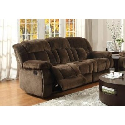 Laurelton Reclining Sofa (Dark Brown)