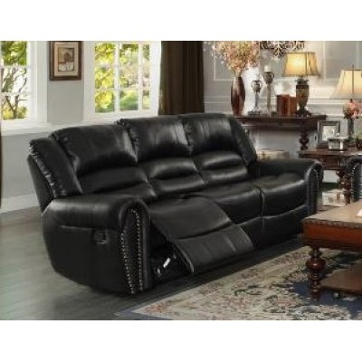 Center Hill Reclining Sofa (Black)
