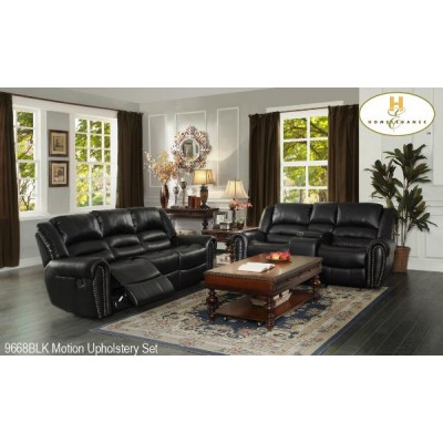 Center Hill Reclining 3pcs. Set (Black)
