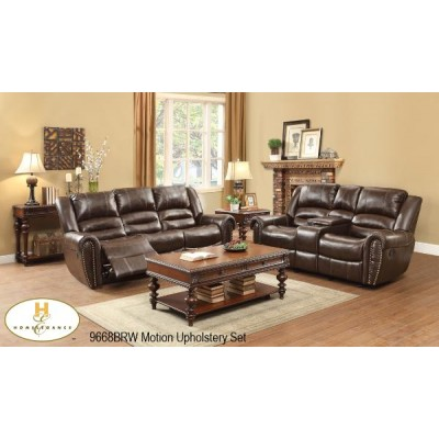 Center Hill Reclining 3pcs. Set (Dark Brown)