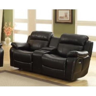 Marille Glider Reclining Loveseat (Black)