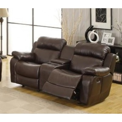 Marille Glider Reclining Loveseat (Dark Brown)