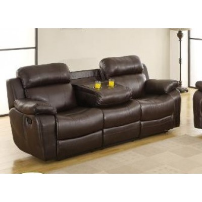 Marille Reclining Sofa (Dark Brown)