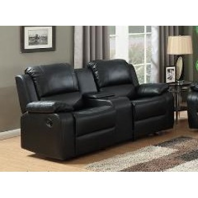 Brewster Gliding Reclining Loveseat (Black)