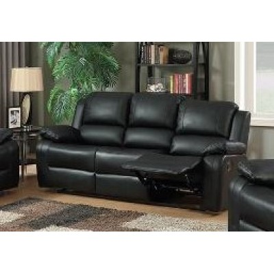 Brewster Reclining Sofa (Black)