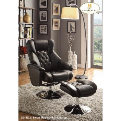 Aleron Swivel Recliner with Ottoman  (Black)