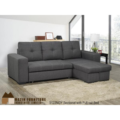 Clemente Sectional with Sofa Bed (Grey)