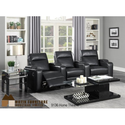 Reclining Savile Home Theatre 5pcs. (Black)