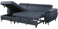 9403 Sectional with sofa-bed and reversible lounge chair (Blue)