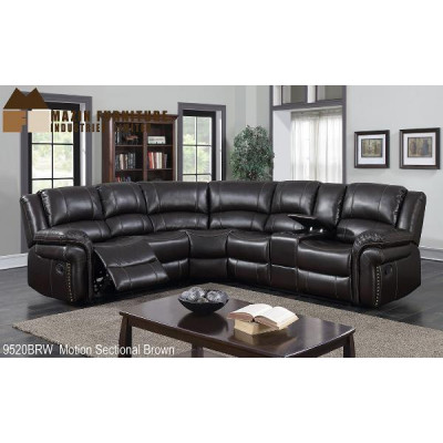 Borden Reclining Sectional (Brown)