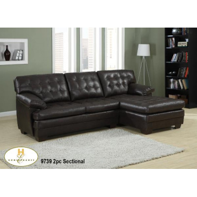 Brooks Sectional (Dark Brown)