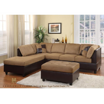 Comfort Living 2pcs. Sectional (Brown Rhino)